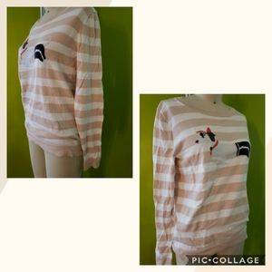 J. Crew Dachshund Woven Lightweight Sweater